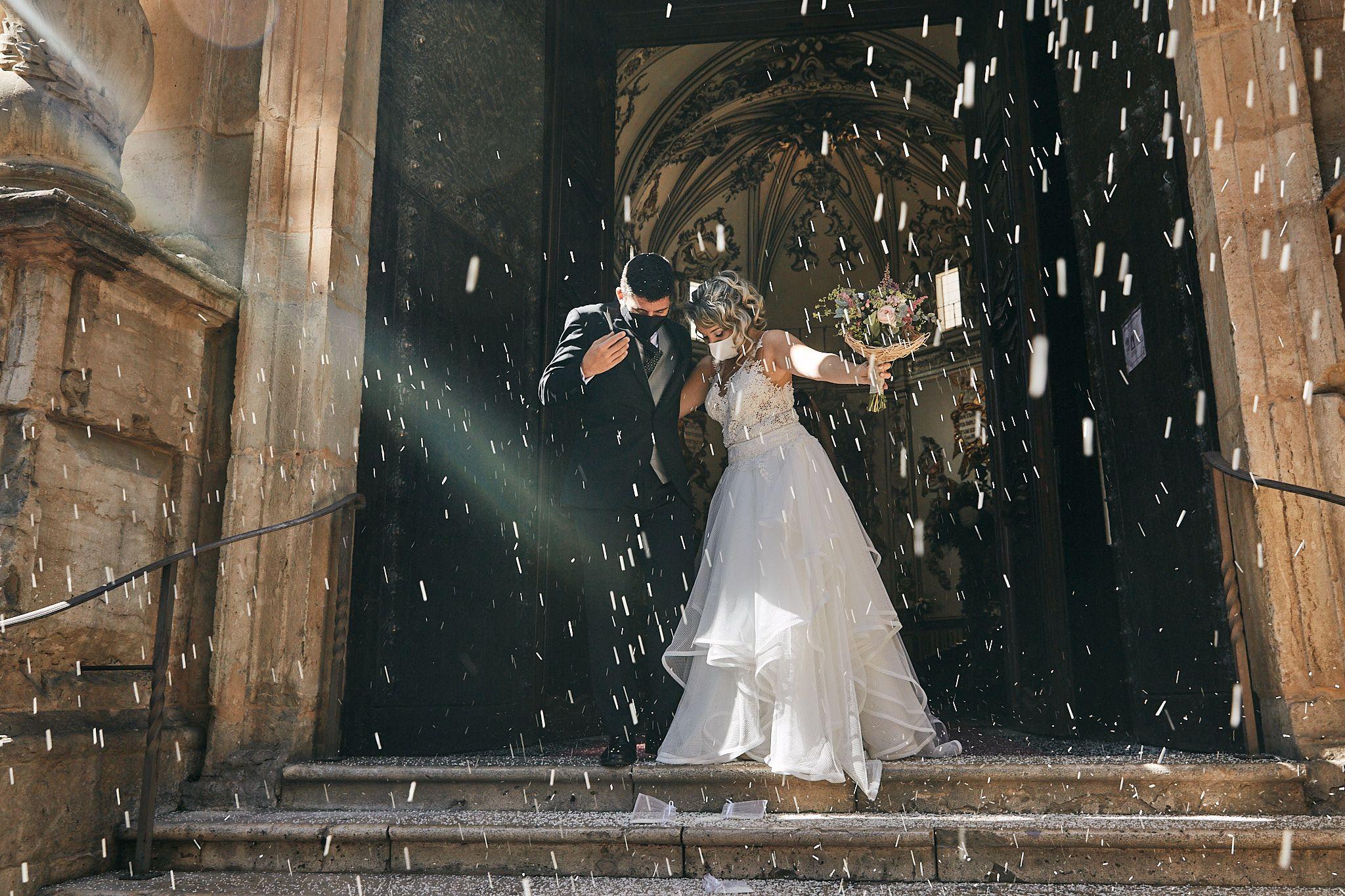 Una boda entre mascarillas